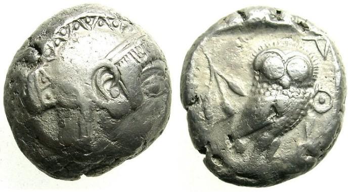 Ancient Coins - ATTICA.ATHENS.Circa 500-490 BC.AR.Tetradrachm.