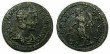 Ancient Coins - THRACE.DEULTUM.Julia Mamaea Augusta AD 222-235.AE.23.7mm. ~#~. Dikaiosyne standing.
