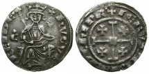 World Coins - CRUSADER STATES.CYPRUS.Hugh IV AD 1324-1359.AR.Gros Grand. varient letter C with cross above.