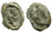 Ancient Coins - ARMENIA.Tigranes II The Great 95-56 BC.AE.Uniface lead Seal.****Unpublished?
