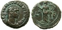 Ancient Coins - EGYPT.ALEXANDRIA.Diocletian AD 284-305.Billon Tetradrachm, struck AD 285/86.~#~.Homonia standing.