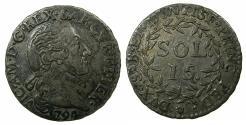 World Coins - ITALY.SARDINIA.Victorio Amadeus III King of Sardinia 1773-1796.AR.15 Soldi 1794.Mint of TORINO ( TURIN ).