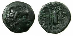 Ancient Coins - THRACE.LYSIMACHIA.Circa 309-220 BC.AE.16.2mm. Herakles. Reverse. Nike.