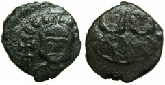 Ancient Coins - BYZANTINE EMPIRE.SICILY.Theophilus AD 829-842 with Constantine Augustus from AD 830.AE.Follis.Mint of SYRACUSE.