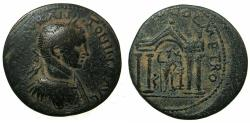 Ancient Coins - PHOENICIA.SIDON.Elagabalus AD 218-222.AE.28.4mm. Temple of Astarte-Tyche.