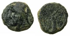 Ancient Coins - SOPHENE, kings of. Arkanthias I , after circa 150 BC.AE.13mm. Reverse.Nike.