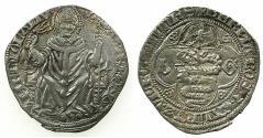 World Coins - ITALY.MILAN.Galeazzo II and Barnabo Visconti AD 1354-1378.AR.Grosso.~~~Saint Ambrose.