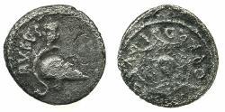Ancient Coins - IMPERTORIAL.Mn Cordius Rufus 46BC.AR.Denarius.Mint of ROME.~~~Corinthian helmet.~#~.Aegis.