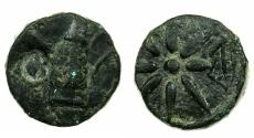 Ancient Coins - BLACK SEA.PONTUS.circa 1st cent.BC.Anonymous issue.AE.19mm. Bow case. Reverse. Eight rayyed star.