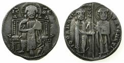 World Coins - VENICE.Giovanni Dandolo AD 1280-1289.AR.Grosso.Privvy mark anulet below left elbow.