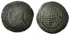 World Coins - ENGLAND.TUDOR.Elizabeth I AD 1558-1603.AR.Sixpense.1581.4th issue.1578-1582.mm.Cross.