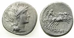 Ancient Coins - ROME.REPUBLIC. C.Clodius Pulcher 110-109 BC.AR.Denarius.