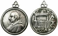 World Coins - ITALY.MILAN. Saint Carlo Borromeo, Archbishop of Milan 1564-1584.Cast Silver plated, hollow, devotional medal. Late 17th -18th cent AD.