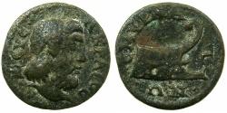 Ancient Coins - IONIA.SMYRNA.Pseudo-Autonomou 2nd cent AD.AE.18.2mm.~~~Zeus Akraios.