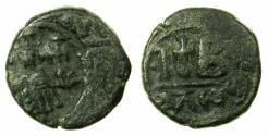 Ancient Coins - BYZANTINE EMPIRE.Constans II AD 641-668.AE.Dodekanummia.Mint of ALEXANDRIA.