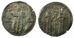 Ancient Coins - BYZANTINE EMPIRE.Andronicus II and Michael IX 1295-1320.AR.Basilikon. Mint of Constantinople. Michael with moustche and beard.