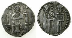 World Coins - ITALY.VENICE.Pietro Gradenigo AD 1289-1311.AR.Grosso.Privvy mark, annulet below left elbow.