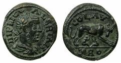Ancient Coins - TROAS.ALEXANDRIA TROAS.Valerian I AD 255-260.AE.Reverse.Wolf suckling twins.