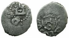 World Coins - ITALY.CAFFA ( Theodosia ). Genoese colony.AR.Bi-lingual Asper.circa 15th cent AD.