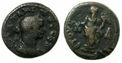 Ancient Coins - EGYPT.ALEXANDRIA.Tacitus AD 275-276.Billon Tetradrachm, struck AD 275/76.~#~.Dikaiosyne standing.