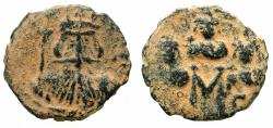 Ancient Coins - BYZANTINE EMPIRE.Constans II AD 641-668.AE.Follis.Mint of CONSTANTINOPLE.