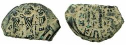 Ancient Coins - PSEUDO BYZANTINE.AE.Follis, after Heraclius ( AD 610-641 ).7th cent AD Imitation after mint of Cyprus.