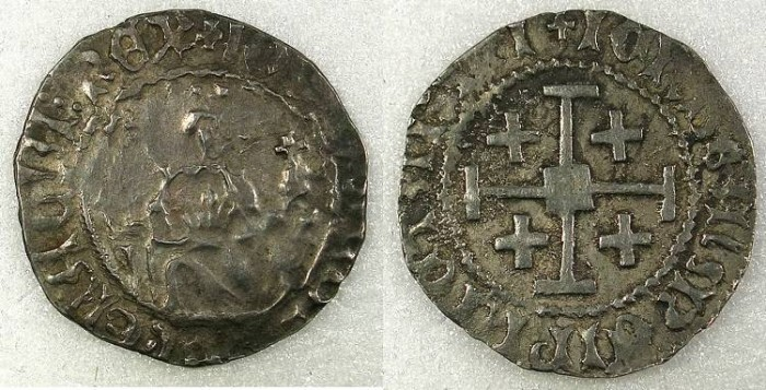 Ancient Coins - Cyprus Louis of Savoy 1459-1460 AR Gros Grand 3.46g