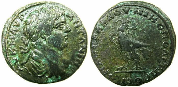Ancient Coins - MOESIA INFERIOR.NIKOPOLIS AD ISTRUM.Caracalla Augustus AD 212-217.AE.25mm.~#~.Eagle