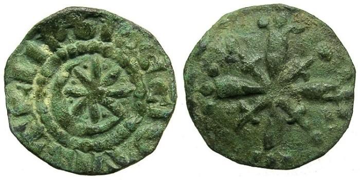 Ancient Coins - CRUSADER.TRIPOLI.Raymond II AD 1137-1152 or Raymond III AD 1152-1187.AE.Fraction.Type 4b