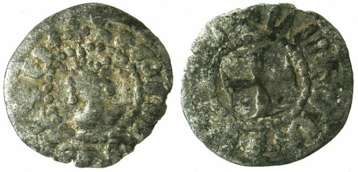 Ancient Coins - ARMENIA.Hetoum II AD 1280-93, 1295-96 and 1301-1303.Bi.Denier.