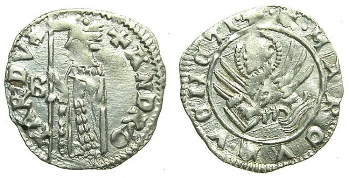 Ancient Coins - ITALY.VENICE.Andrea Contarini AD 1368-1382.AR.Soldino.2nd Type.1st.issue.~~~Sigla B