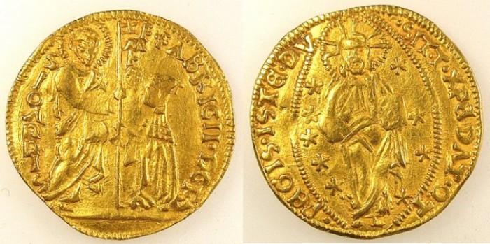 Ancient Coins - CRUSADER STATES.RHODES.Fabrizio del Carretto 1513-1521.AV.Ducat.