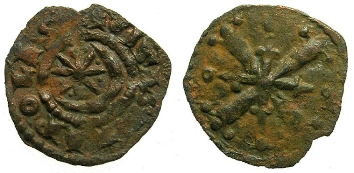Ancient Coins - CRUSADER.TRIPOLI.Raymond II AD 1137-1152 or Raymond III AD 1152-1187.AE.Fraction.Type 4a