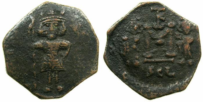 Ancient Coins - BYZANTINE EMPIRE.Constantine IV Pogonatus AD 668-685 .AE.Follis.Mint of Syracuse, SICILY.