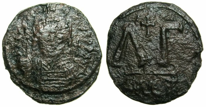 Ancient Coins - BYZANTINE EMPIRE.EGYPT.ALEXANDRIA.Justinian I AD 527-565.AE.33 Nummia. ****VERY RARE *****