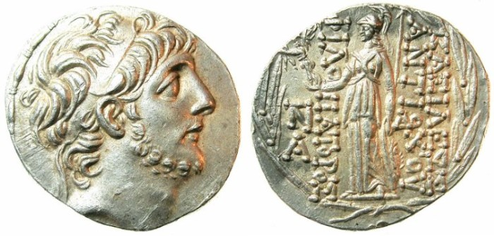 Ancient Coins - SELEUCID EMPIRE.Antiochus IX Philopator 114/13-96/95 BC.AR.Tetradrachm.Mint of ANTIOCH