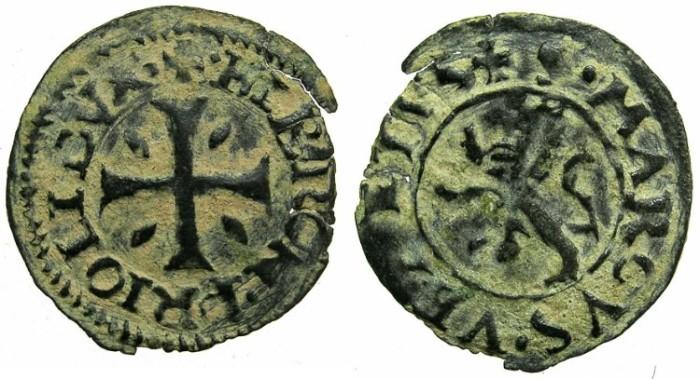 Ancient Coins - CRUSADER STATES.CYPRUS under VENICE.Girolamo Priuli AD 1559-1567.Bi.Carzia per Cipro.