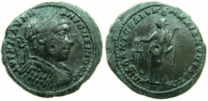 Ancient Coins - MOESIA INFERIOR.MARCIANOPOLIS.Elagabalus AD 218-222.AE.26mm.~#~.Dikaiosyne standing.