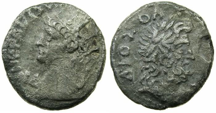 Ancient Coins - EGYPT.ALEXANDRIA.Nero AD 54-68.Bi.Tetradrachm.AD 67-68. ~#~Zeus Olympios