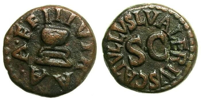 Ancient Coins - ROMAN.L.Valerius Catullus 4 BC.AE.Quadrans.