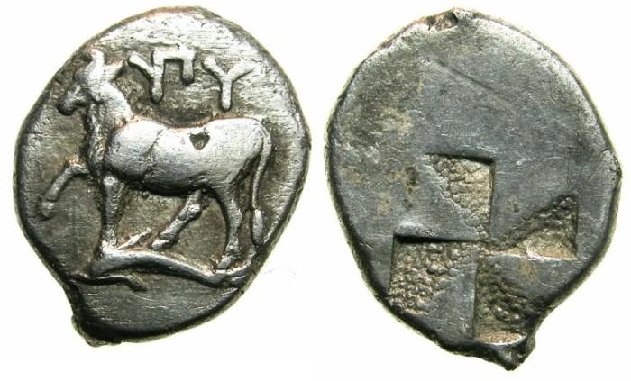 Ancient Coins - THRACE.BYZANTION.Circa 416-357 BC.AR.Half sigloi.