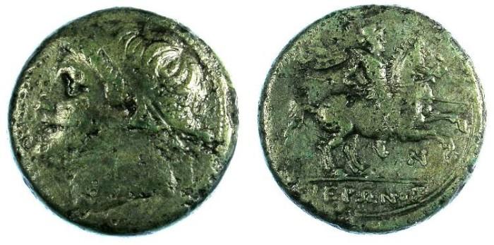 Ancient Coins - SICILY.Syracuse.Hieron II 274-216 BC.AE.26mm.Hieron Rev.Horseman