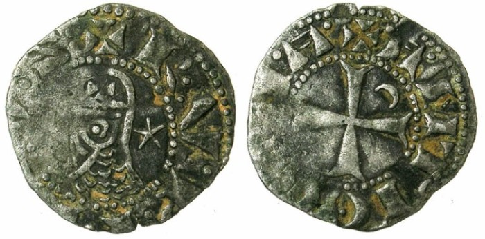 Ancient Coins - CRUSADER.Principality of ANTIOCH.Raymond Roupin AD 1216-1219.Bi.Denier.