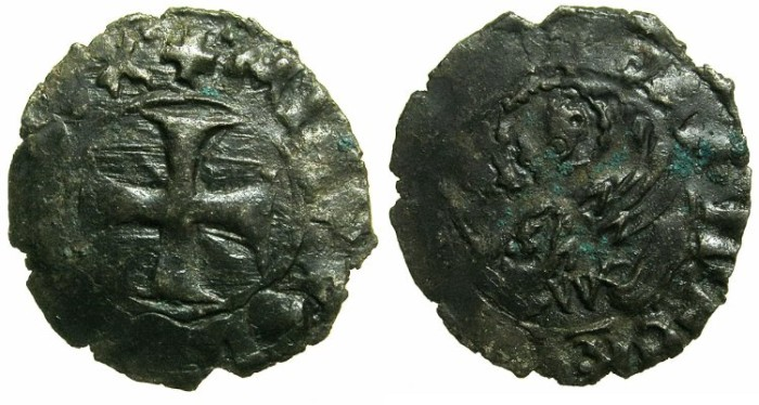 Ancient Coins - CRUSADER.GREECE under VENICE.Michael Steno AD 1400-1413.Bi.Tornesello.