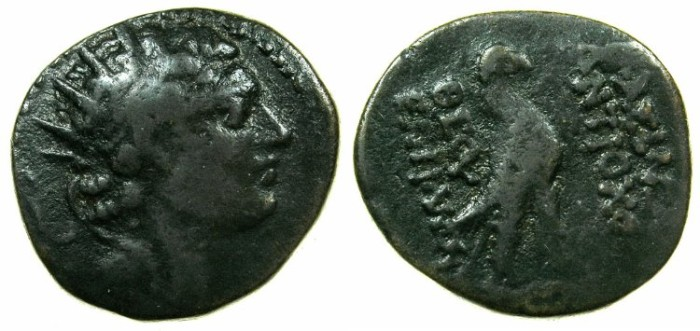 Ancient Coins - SYRIA.Antiochus IV 175-165/4 BC.AE.19mm, Egyptianzed series from the mint of ANTIOCH.