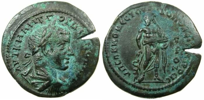 Ancient Coins - MOESIA INFERIOR.NIKOPOLIS AD ISTRUM.Gordian III AD 238-244.AE.28mm.~#~.Asklepios standing.