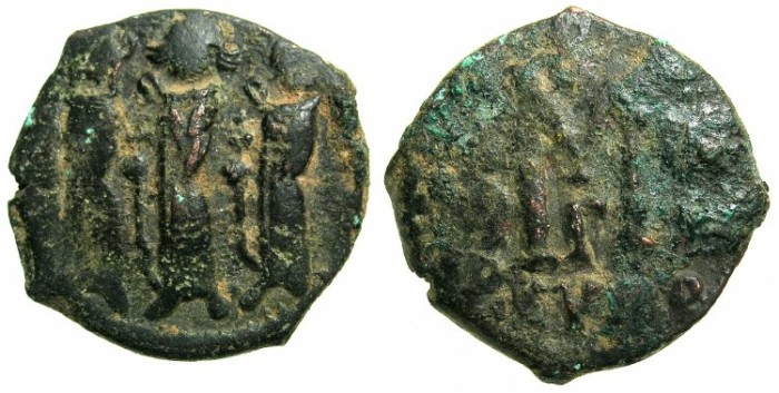 Ancient Coins - BYZANTINE EMPIRE.CYPRUS.Heraclius AD 610-641.AE.Follis AD 628/629.