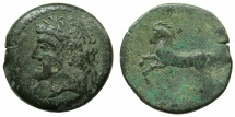 Ancient Coins - NUMIDIA.Massinissa or Micipsa circa 203-148-118 BC.AE.26.4mm