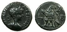 Ancient Coins - EGYPT.ALEXANDRIA.Severus Alexander 222-235 AD.Billon Tetradrachm, struck 222/23 AD. ~#~.Eagle on thunderbolt