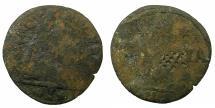 World Coins - CRETE, UNDER VENICE.Regno di Candia.AE.1 Soldo N.D. ( circa 1653-1669 ). Reverse. Unpublished lattice countermark.